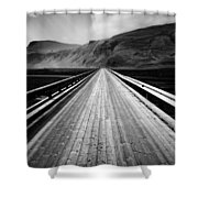 Road To Vik Shower Curtain