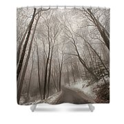 Road To Winter Shower Curtain