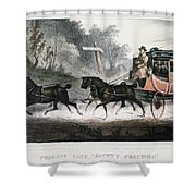 Road Travel/stagecoach Shower Curtain