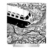 Road Trip - Woodstock Shower Curtain