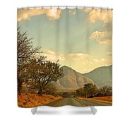Road Trip Mountains Shower Curtain