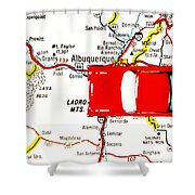 Road Trip - The Mother Road Shower Curtain