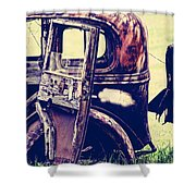 Road Xox Shower Curtain