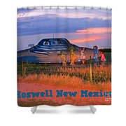 Roadside Attraction At Roswell Shower Curtain
