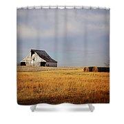 Roadside Barn Shower Curtain