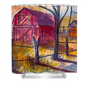 Roadside Barn Shower Curtain