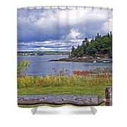 Roadside Seascape  Shower Curtain