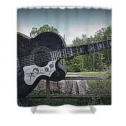 Roadside Tribute To Elvis Shower Curtain