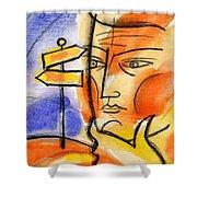 Roadway Shower Curtain by Leon Zernitsky
