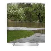 Roadway Turned Boat Launch Shower Curtain