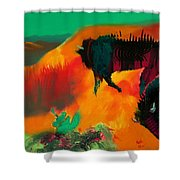 Roaming In The Desert Shower Curtain by Keith Thue