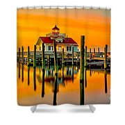 Roanoke Lighthouse Dawn Shower Curtain