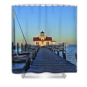 Roanoke Marches Lighthouse Shower Curtain