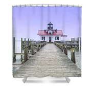 Roanoke Marshes Light  Shower Curtain
