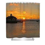 Roanoke Marshes Lighthouse 3210 Shower Curtain