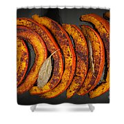 Roasted Pumpkin Slices Shower Curtain