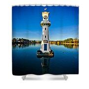 Roath Park Evening Shower Curtain