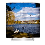 Roath Park Lake Shower Curtain
