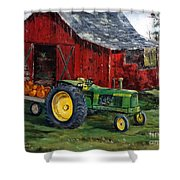 Rob Smith's Tractor Shower Curtain by Lee Piper