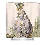 Robe De La Circassienne, Engraved Shower Curtain