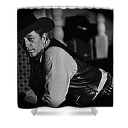 Robert Mitchum Leaning On Poker Table Young Billy Young Set Old Tucson Arizona 1969-2008 Shower Curtain