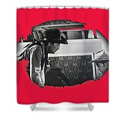 Robert Mitchum Robert Walker Confrontation Young Billy Young Set Old Tucson Arizona 1968 Shower Curtain