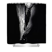 Robert Mitchum Young Billy Young  Old Tucson 1968 Shower Curtain