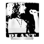 Robert Plant Black And White Pop Art Shower Curtain