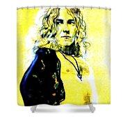 Robert Plant Of Led Zeppelin   Shower Curtain