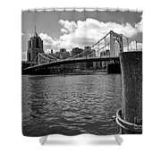 Roberto Clemente Bridge Pittsburgh Shower Curtain