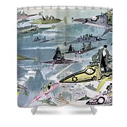 Robida Future Travel, C1902 Shower Curtain