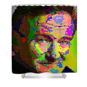 Robin Williams - Abstract Shower Curtain