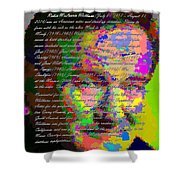 Robin Williams - Abstract With Text Shower Curtain