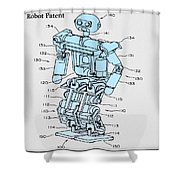 Robot Patent Shower Curtain