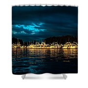 Roche Harbor  At Sunset Shower Curtain