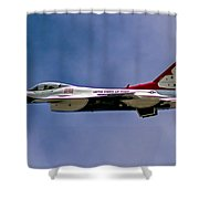 Rochester Air Show Thunderbirds Shower Curtain
