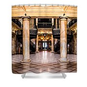 Rochester City Hall Main Hall Shower Curtain
