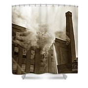 Rochester Show Case Co. Fire New York Circa 1904 Shower Curtain