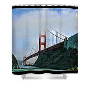 Rock And Golden Gate Shower Curtain