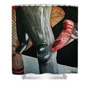 Rock And Roll Ballet Shower Curtain