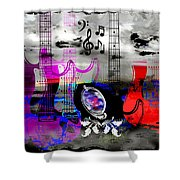 Rock And Roll Fantasy Shower Curtain