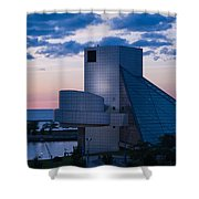 Rock And Roll Hall Of Fame Shower Curtain by Dale Kincaid