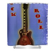 Rock And Roll - Les Paul Shower Curtain