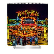 Rock And Roll On The Boardwalk Shower Curtain