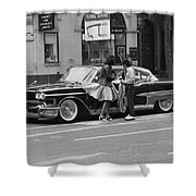 Rock And Roll Radio Campaign Shower Curtain