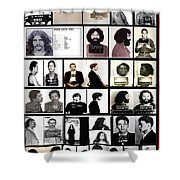 Rock And Roll's Most Wanted Shower Curtain