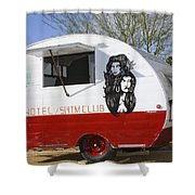 Rock Away Trail Riders Palm Springs Shower Curtain