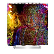 Rock Buddha Shower Curtain