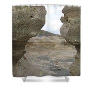 Rock Caves On The Beach Shower Curtain