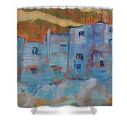 Rock City Abstract Shower Curtain
